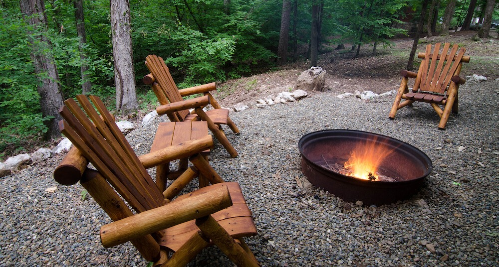 broken bow cabin arabella fire pit seating