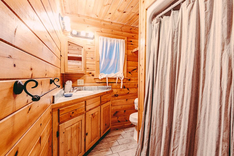 cabin bathroom and shower